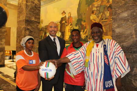 BP Diaz Hosts African Soccer Awards Event