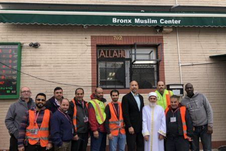 BP Diaz Visits Bronx Muslim Center