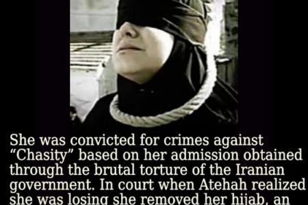 Atefeh Rajabi Sahaaleh, 16 – Sentenced To Death For Being Raped