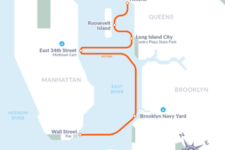 Celebrating The Start Of NYC Ferry Service At The Brooklyn Navy Yard