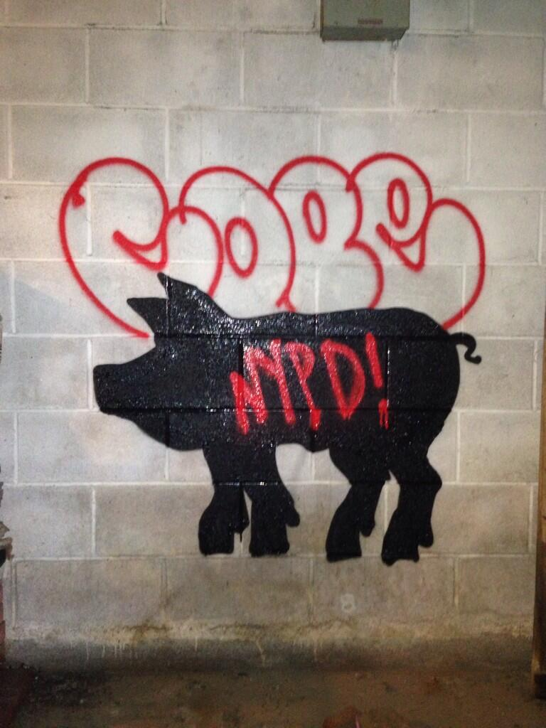 Banksy May Have Collaborated With Cope2 On An Anti-NYPD Piece