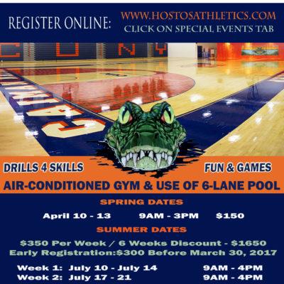 Enroll To The Hostos Athletics Spring & Summer Basketball Academies