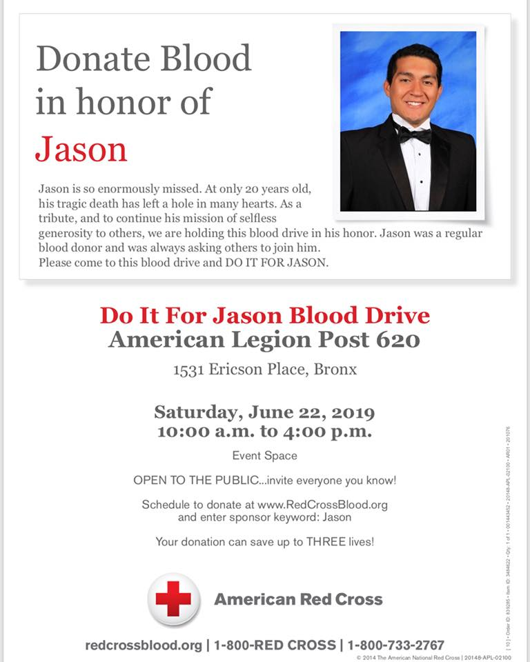 Donate Blood In Honor Of Jason