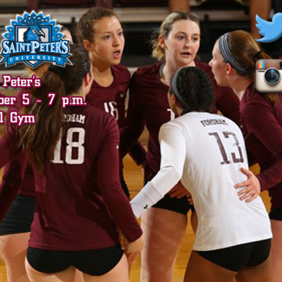 The Fordham Women's  Volleyball Team Hosts St. Peter's Tuesday Night