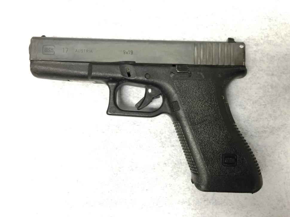Brown's gun.