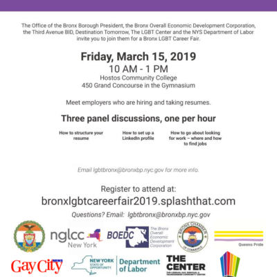 2019 Bronx LGBT Career Fair