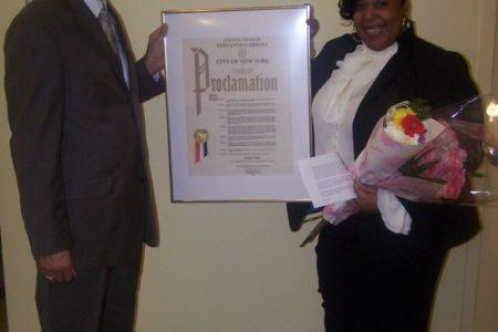 Librarian  Linda Jones Honoured