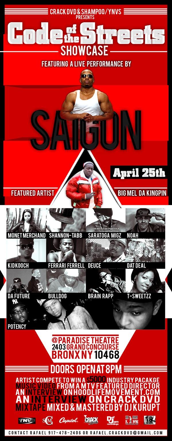 Bronx concert flyer.