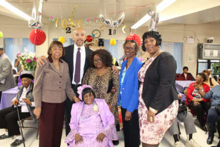 Celebrating A 102nd Birthday Party At R.A.I.N. Eastchester Neighborhood Center