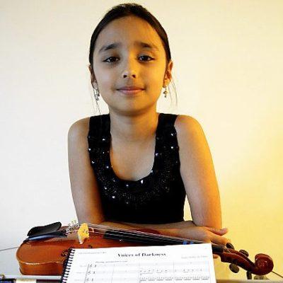 Philharmonic Plays 5th-Grader's Work