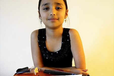 Philharmonic Plays 5th-Grader's Work