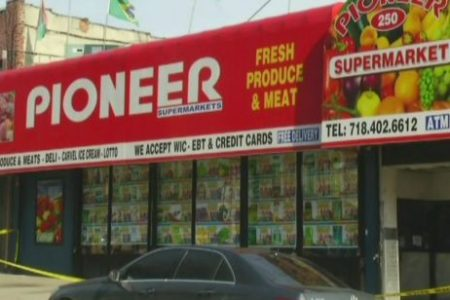 Roof Of Pioneer Supermarket Partially Collapses