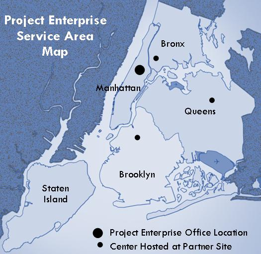 Project Enterprise service map.