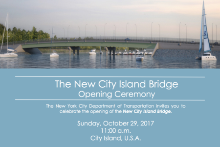 Mayor de Blasio Announces Opening Of New City Island Bridge In Bronx