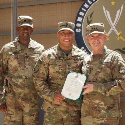 Staff Sergeant Ugarte Received A Battle Field Promotion