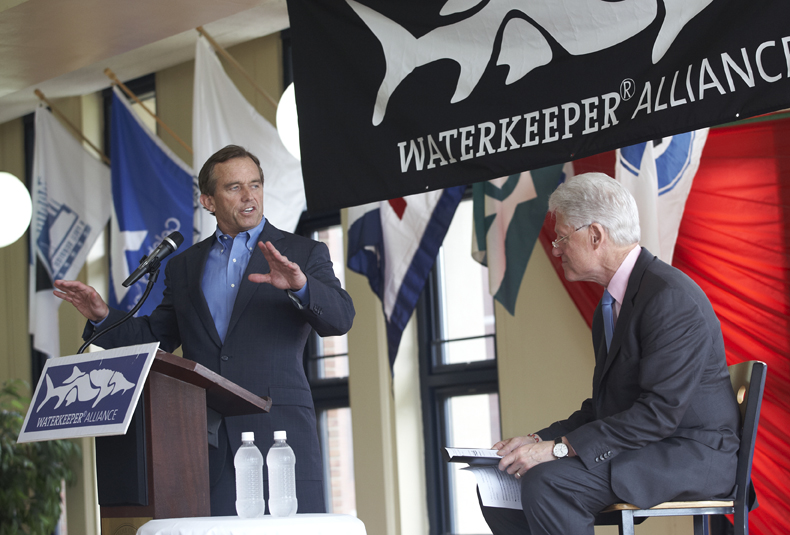 Waterkeeper Alliance Chairman and Founder Robert F. Kennedy, Jr. introduces President Clinton
