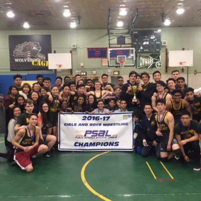 Bronx Science Girls & Boys Wrestling Team PSAL City Champs