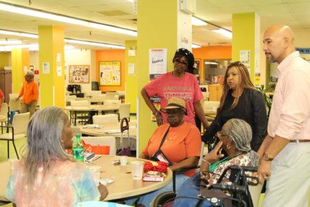 BP Diaz Visits A Senior Citizen Housing Development In Bronx