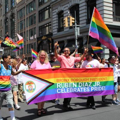 BP Diaz Participates In NYC Pride March