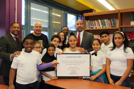 BP Diaz & Hip-Hop Legend Fat Joe Deliver New Computers To P.S. 146