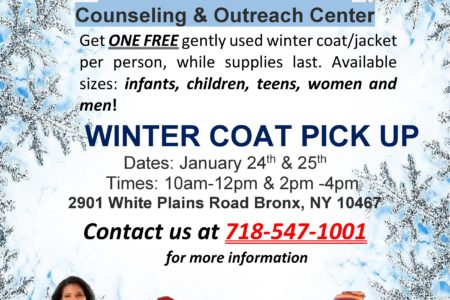Free Winter Coats Drive At SUNY North Bronx