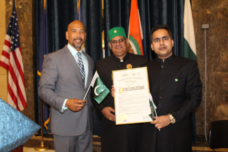 Borough President Diaz Hosts Pakistani Independence Day Celebration