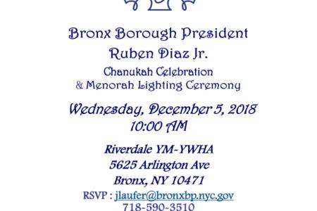 Chanukah Celebration & Menorah Lighting Ceremony