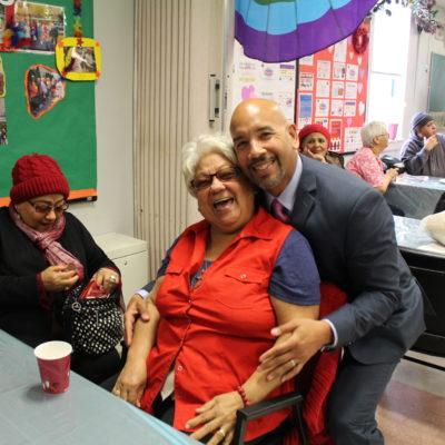 BP Diaz Visits SAGE Center Bronx On St. Valentine's Day