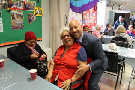 BP Diaz Visits SAGE Center Bronx On St. Valentine's Day