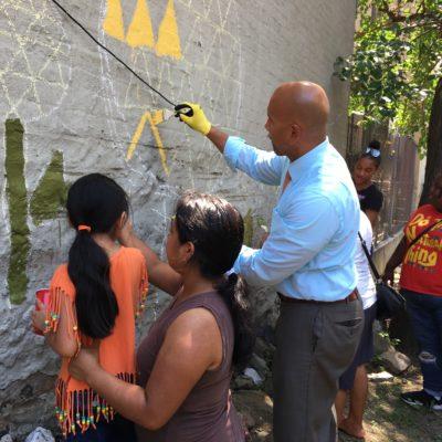 BP Diaz & Bronx Youth Corps Beautify Community Garden