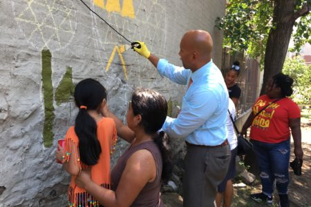 BP Diaz & Bronx Youth Corps Beautify Community Garden