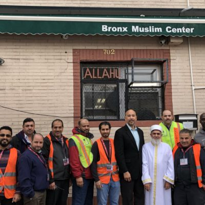 BP Diaz Visits Bronx Muslim Center