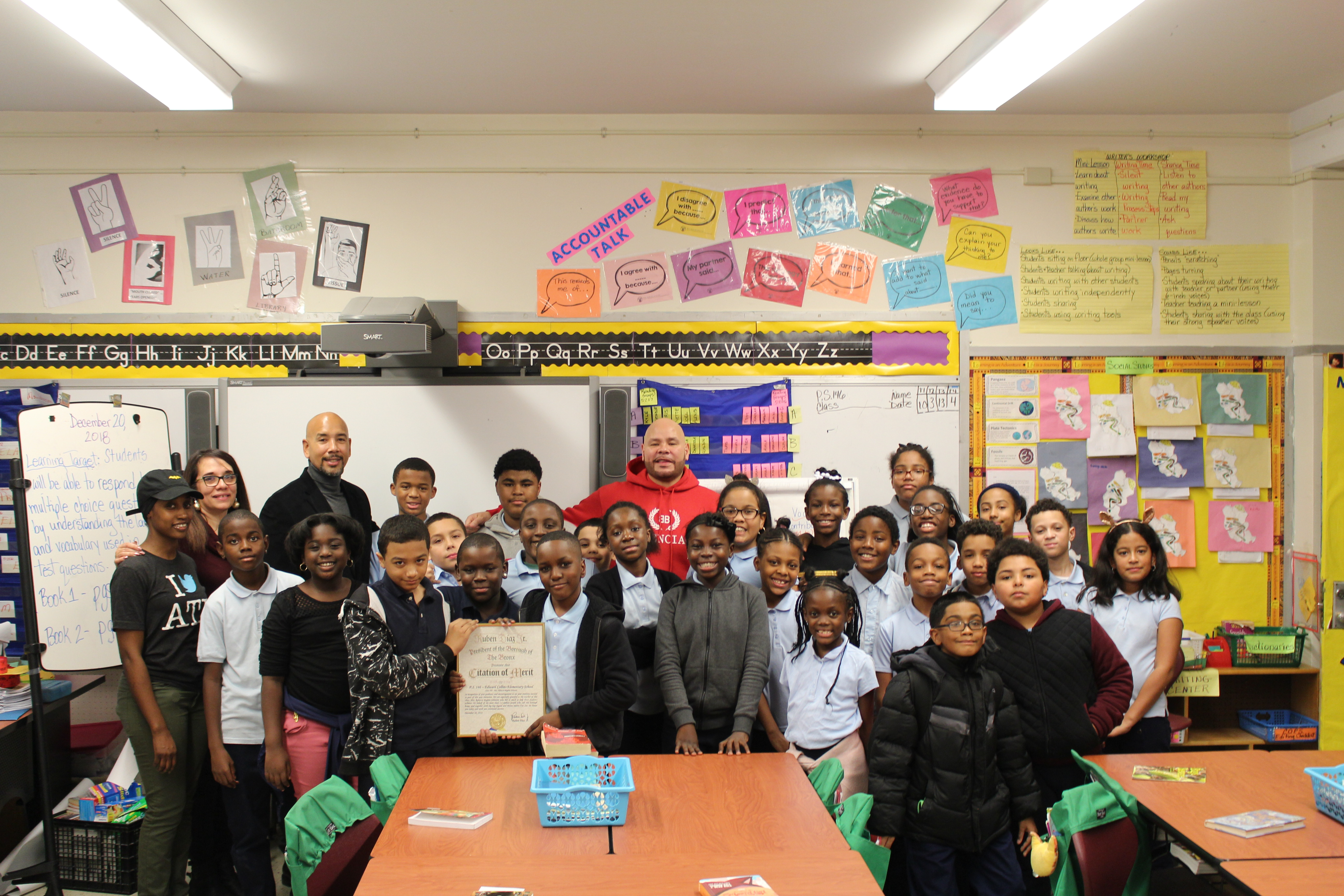 Borough President Diaz & Fat Joe Award Sneakers To Bronx Students