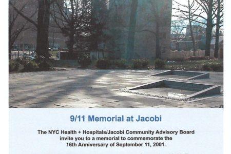 9/11 Memorial At Jacobi