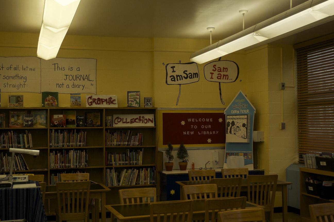 The revitalized library at P.S. 130.