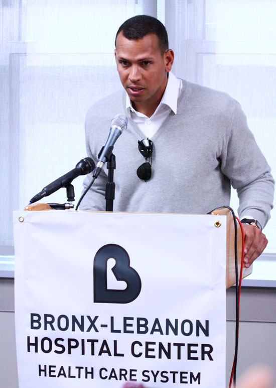 Alex Rodriguez Dedicates A New Pediatric Outpatient Center