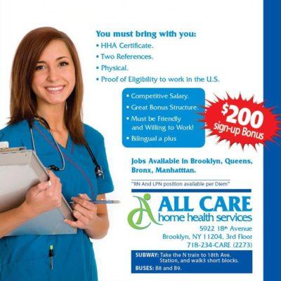 Home Health Aides Wanted ASAP