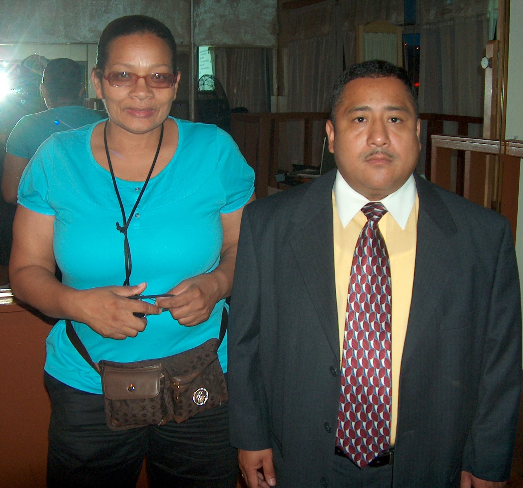 Investigator Andres Rodriguez and Marie Spivey.