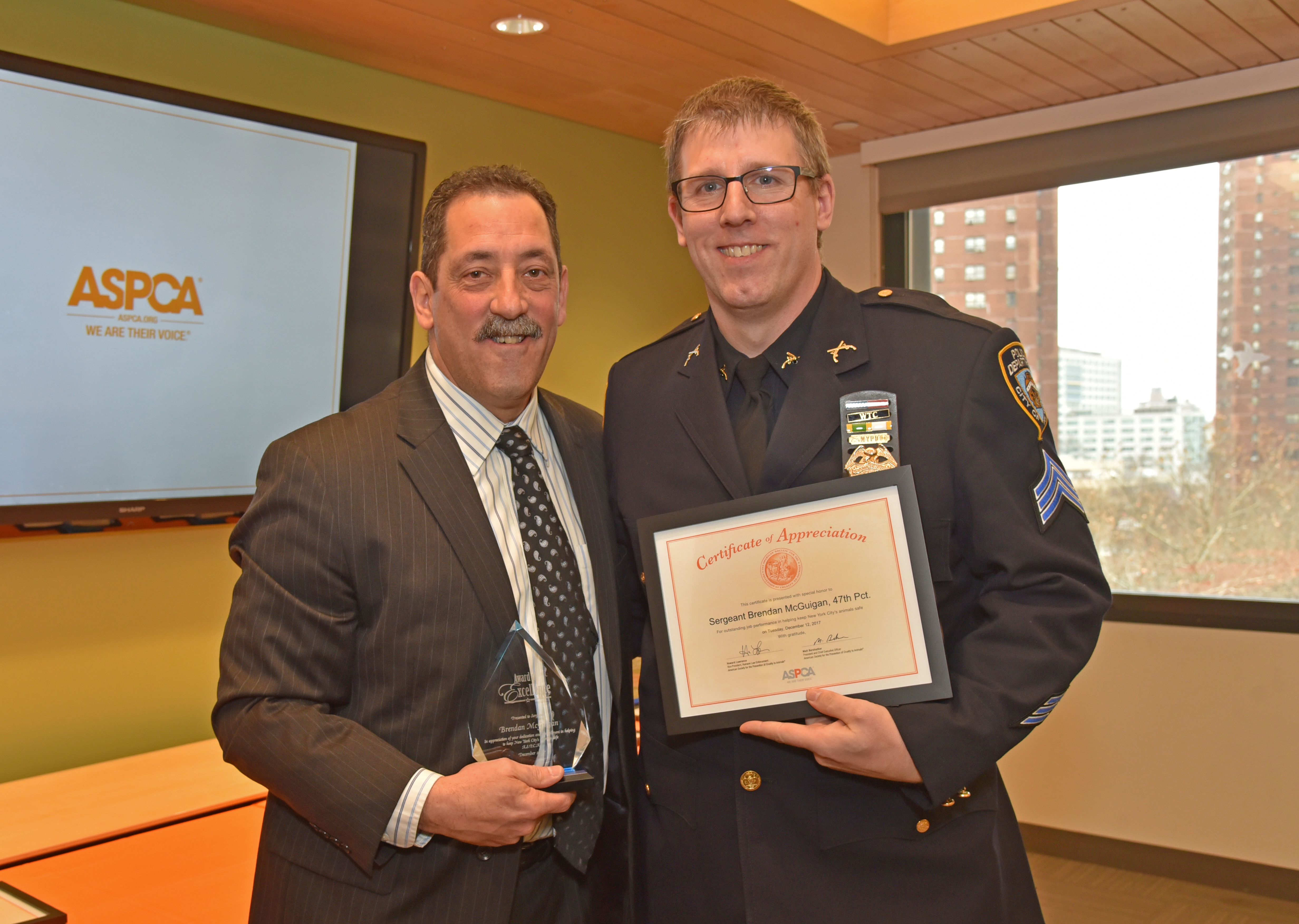 ASPCA Honors NYPD Officers & Assistant District Attorney At 3<sup>rd</sup> Annual Appreciation Luncheon