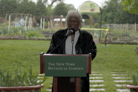 Aurelia Greene Helps Unveil A New Community Garden