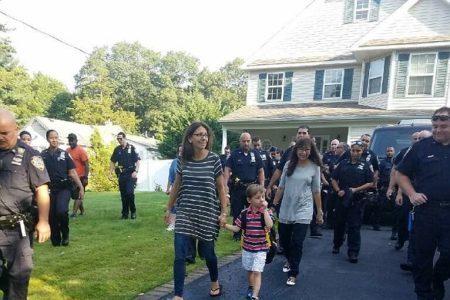 Sgt. Paul Tuozzolo's Son Is Escorted By Dozens Of Officers For His First Day Of School
