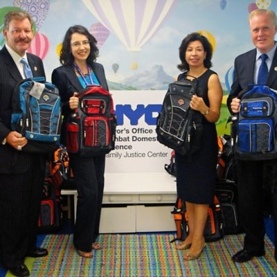 Bagpacks Donated To Bronx Family Justice Center