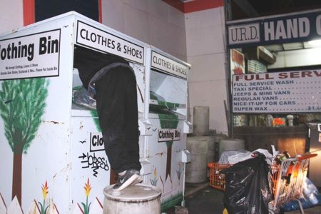 Bandit Robs Clothing For The Needy