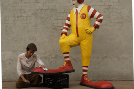 "Banksy's ""Shoe Shine Boy"" Jabs At Ronald McDonald"