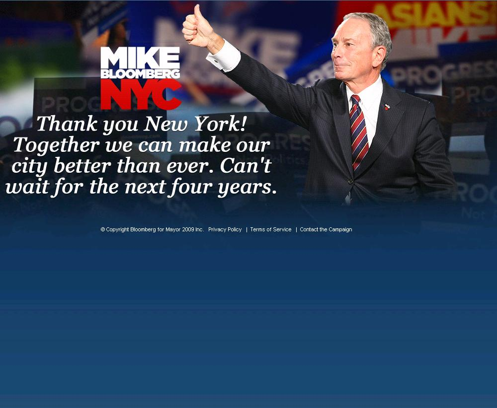 Michael R. Bloomberg's website following his victory.