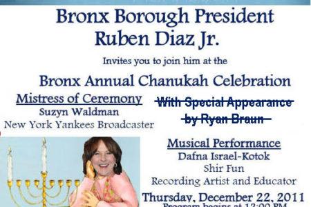 Bronx Annual Chanukah Celebration
