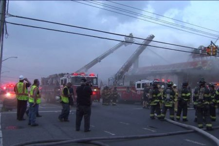 Three-Alarm Bronx Warehouse Fire