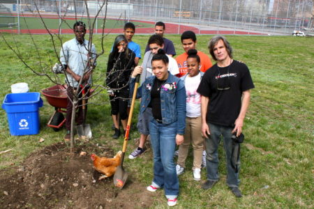 Bronx Students Break Ground On City's Biggest Orchard