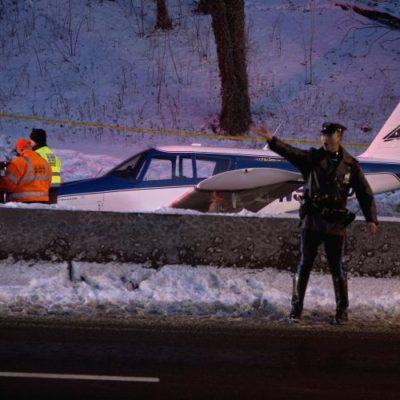 Plane Lands On Major Deegan Expressway In Bronx