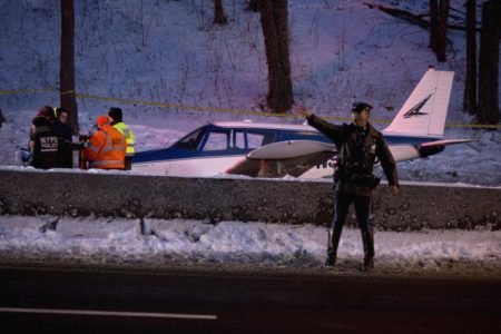 Plane Lands On Major Deegan Expressway In Bronx